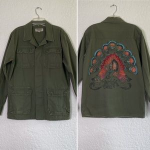 URBAN OUTFITTERS Green Military Jacket. Size M